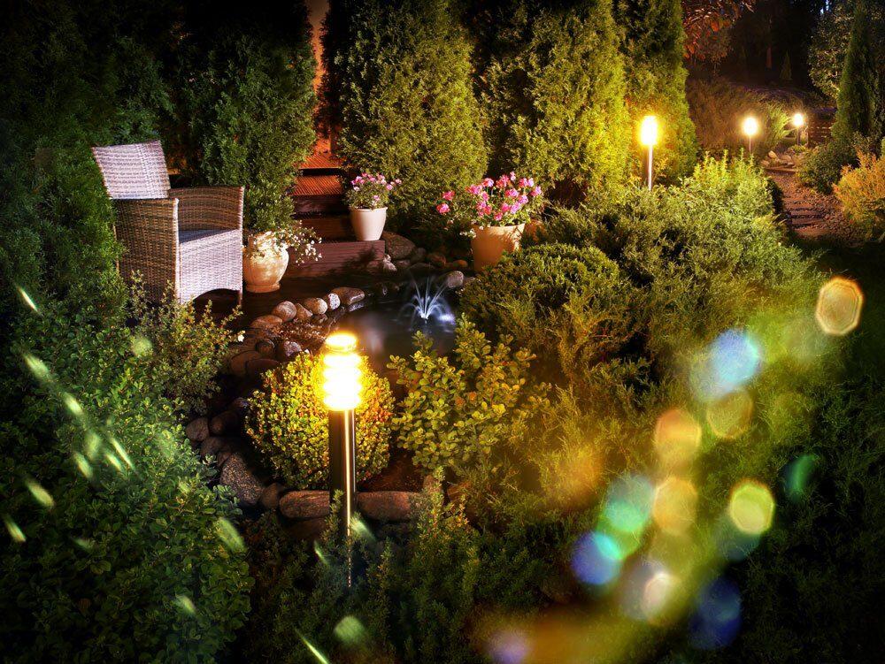 Beleuchtung im Garten für fantastische Lichteffekte