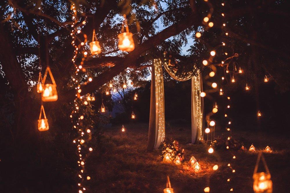 Gartenbeleuchtung mit Laternen