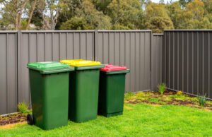 Mülltonnen im Garten