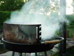 Rauchbelästigung durch Grillen im Garten