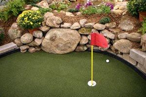 Minigolf gibt es auch für den Garten