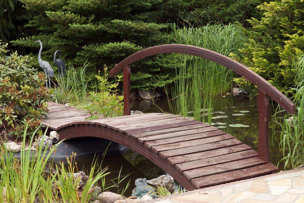 Gartenbrücke bauen