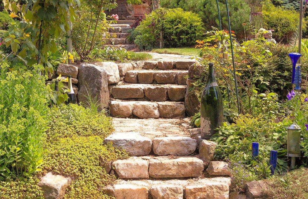 Garten Hanglage Treppe