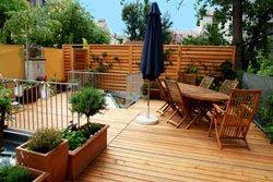 Dachgarten mit Kübelpflanzen