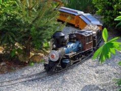 Eisenbahn im Garten