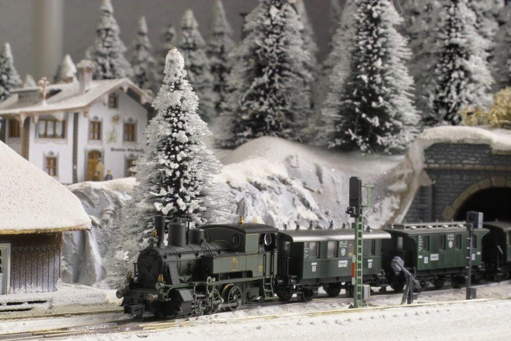 Gartenbahn im Winter