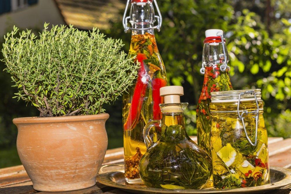 Kräuter in Öl einlegen