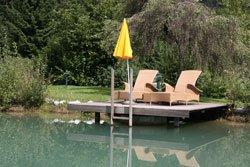 Ein Schwimmteich ist besonders für große Gärten geeignet
