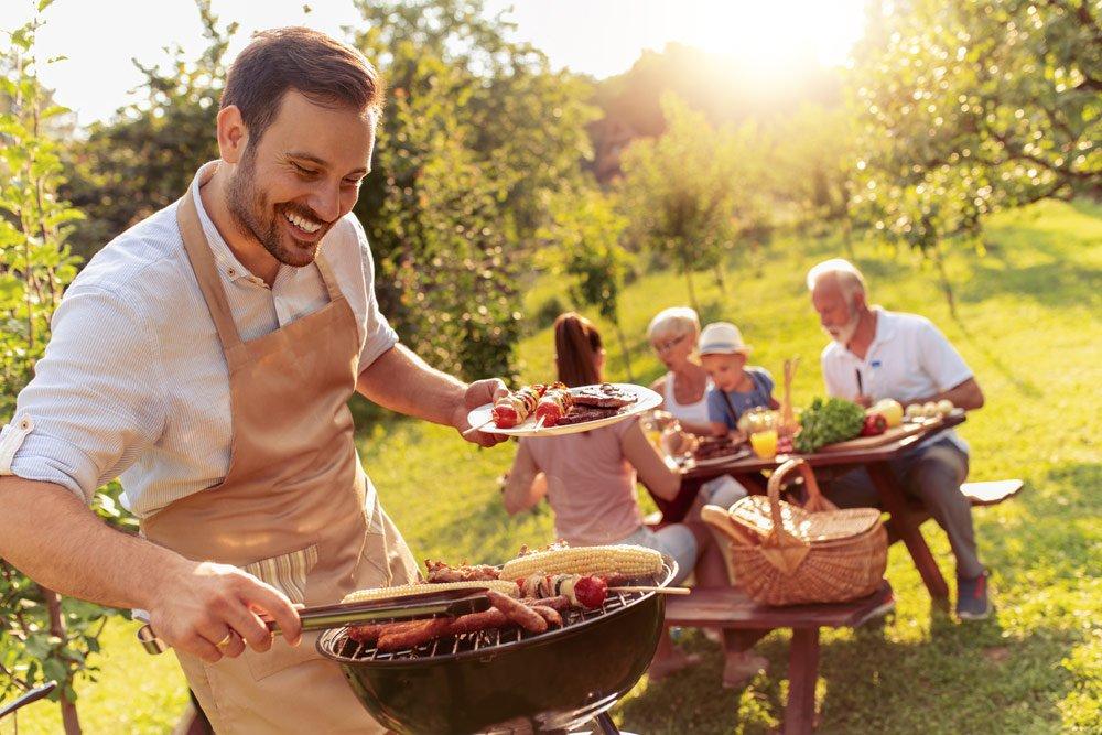 Gartenparty: Grillen