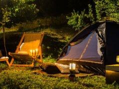 Zelten im Garten