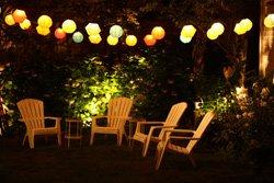 Lichterketten sorgen für eine romantische Stimmung