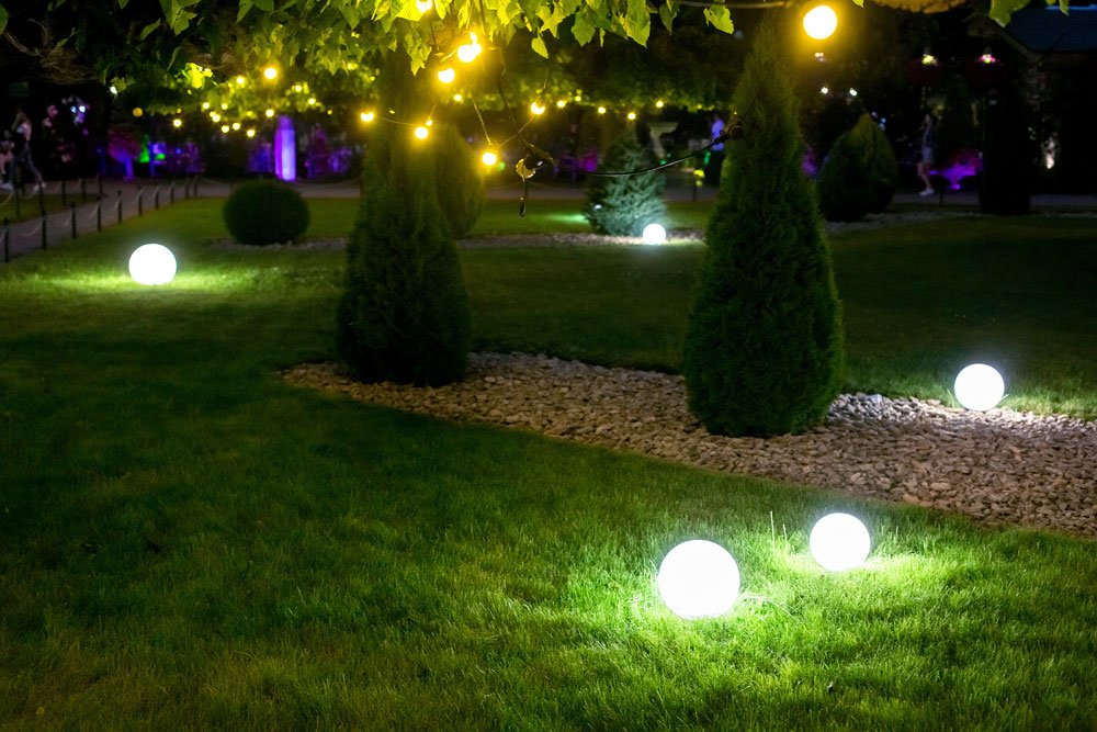 Moonlights als Gartenbeleuchtung