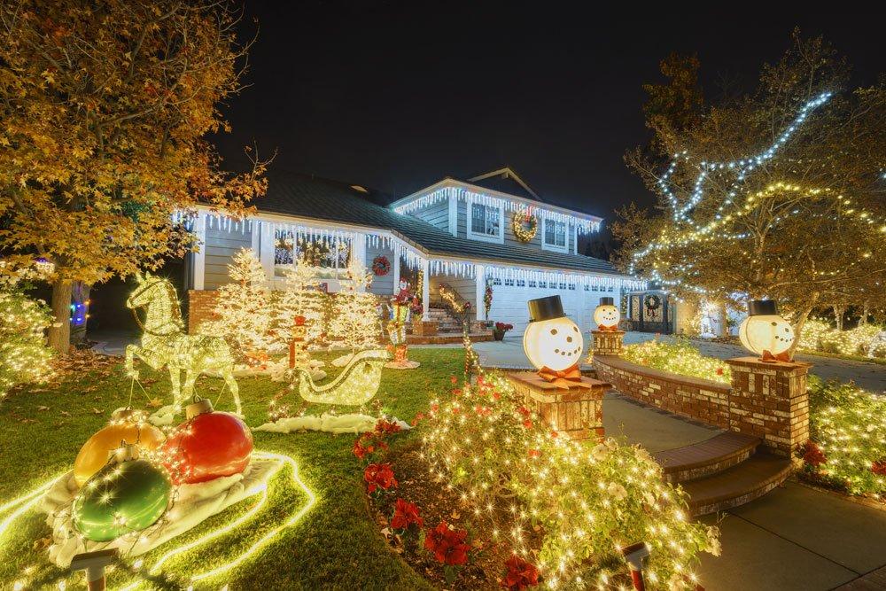 Lichterkette Garten Weihnachten