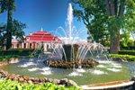 Springbrunnen französischer Garten