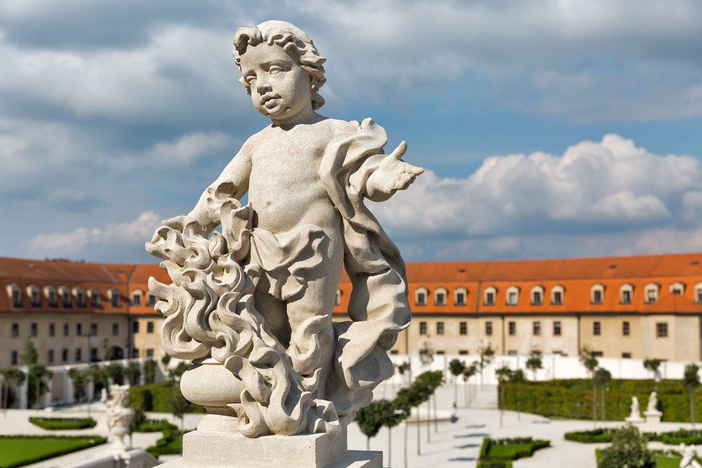 frnzösischer Garten Skulptur