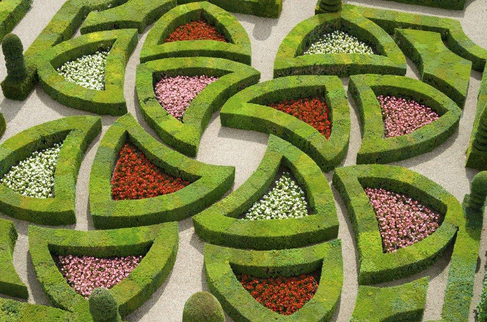 französischer Garten Symmetrie