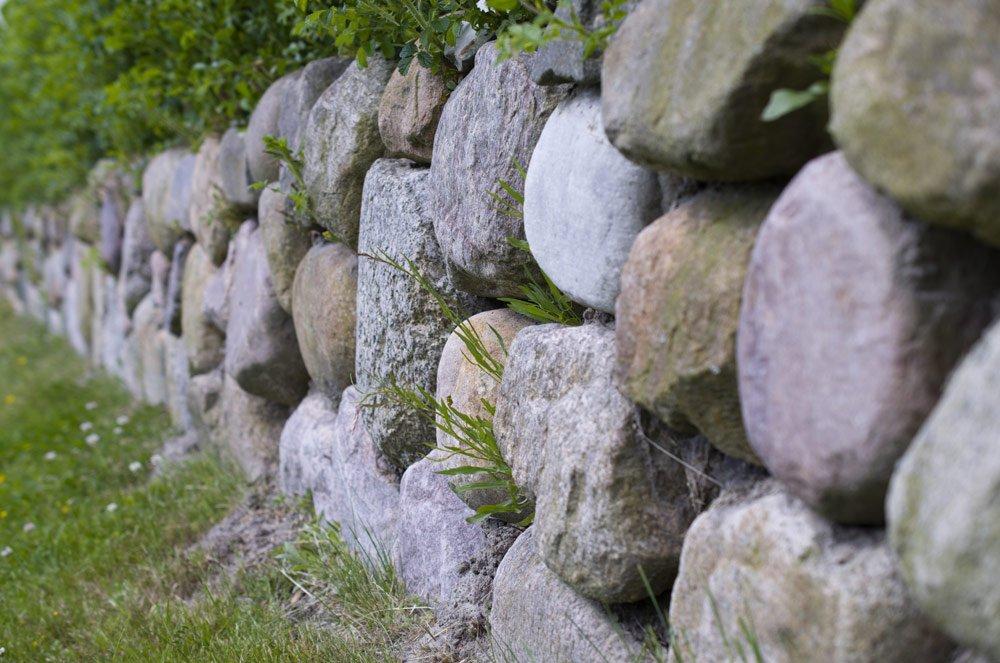 Cottage-Garten Mauer