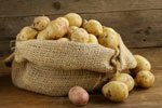 Kartoffeln im Leinensack