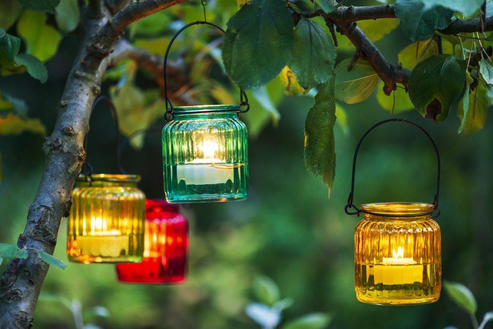 Gartenparty: Beleuchtung mit Kerzen
