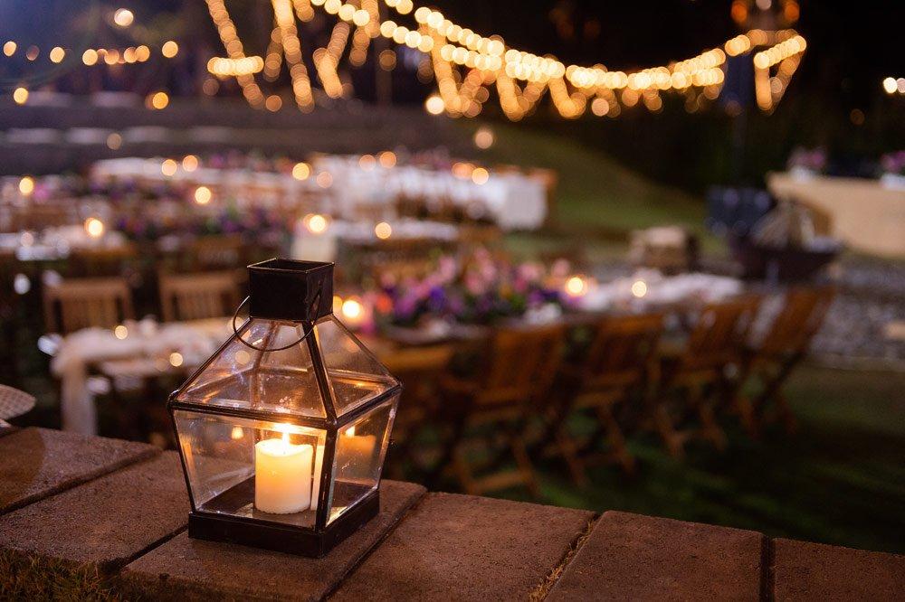 Gartenparty: Beleuchtung mit Laternen