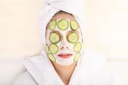 Gurke gesund Maske