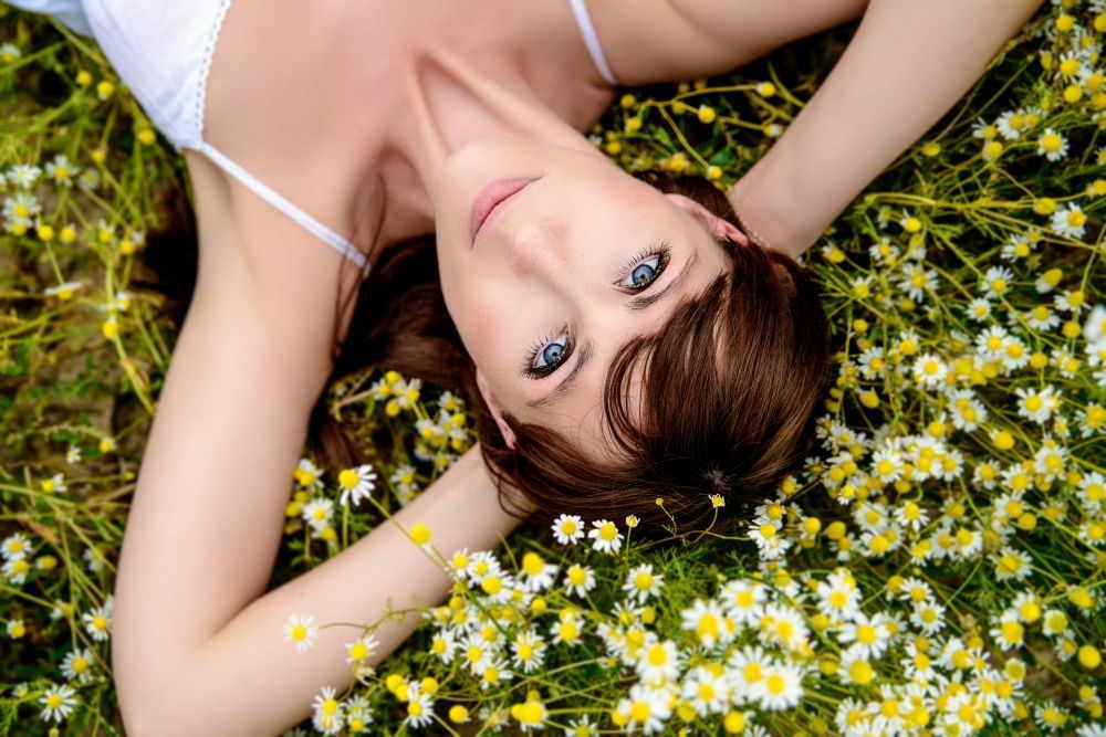 Blumen im Wellness-Garten