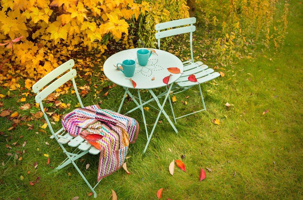 Herbst Garten Sitzecke