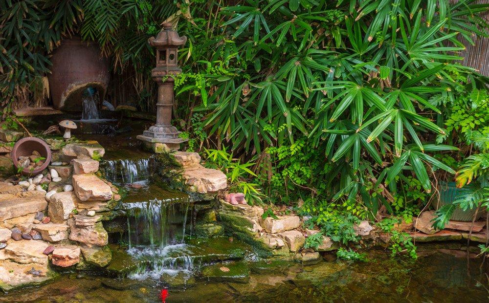 Wassertreppe im Garten: Verlauf
