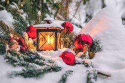 Gartenteich Weihnachten