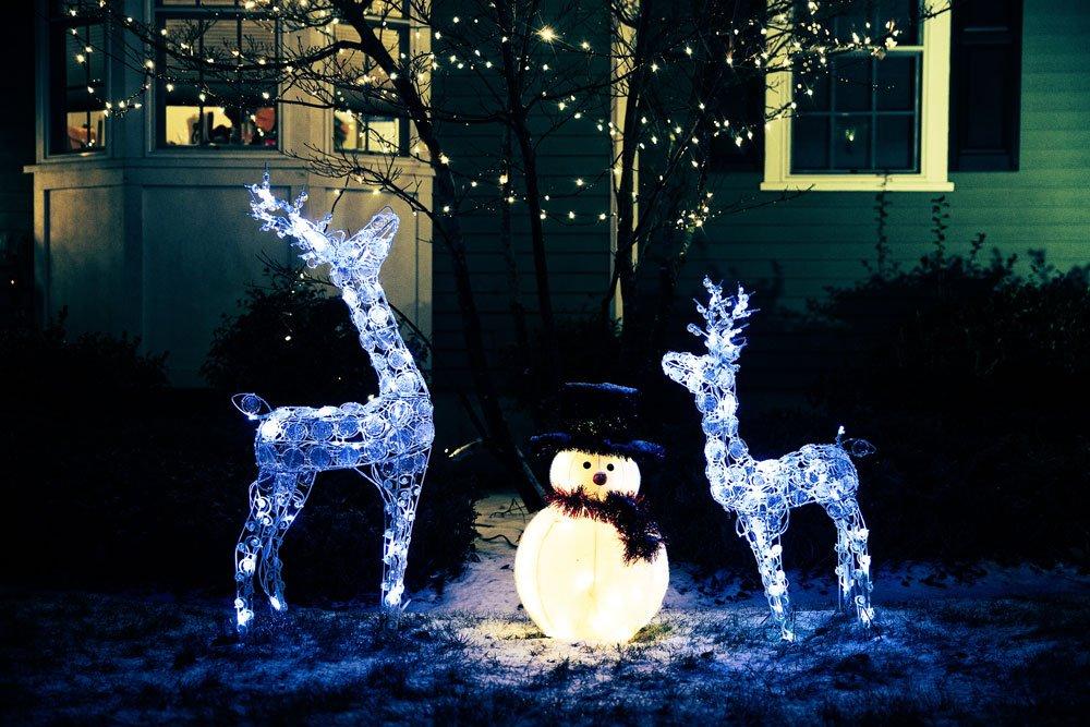 Angetsrahlte Weihnachtsdeko