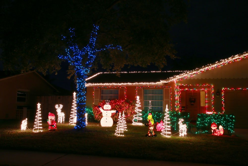 Beleuchtete Weihnachtsdeko