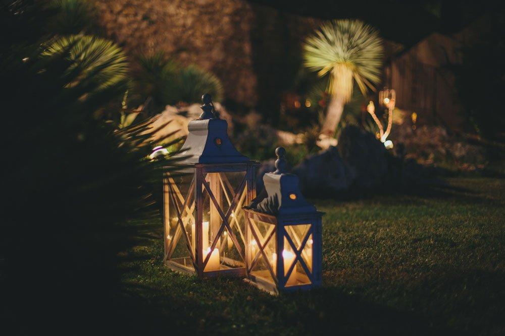 Windlichter Beleuchtung Pavillon