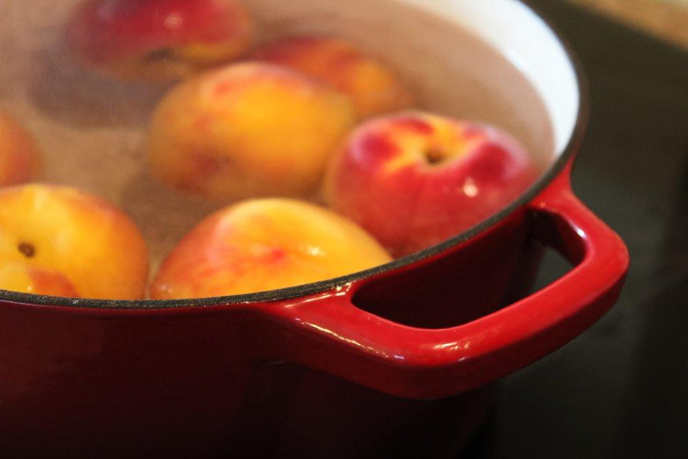 Pfirsiche blanchieren