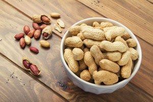 Feuchtigkeit schadet den Erdnüssen