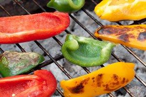 Paprikas schmecken auch gegrillt richtig klasse