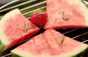 Melone grillen Rezept Anleitung