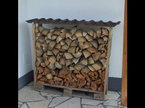 Holzunterstand aus einer Europalette selber bauen – Videoanleitung