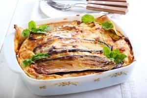 Auberginen-Lasagne schmeckt mit und ohne Fleisch