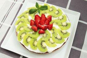 Erdbeeren sorgen für einen Farbtupfer