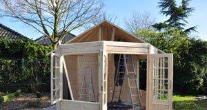Garten Gerätehaus Planung