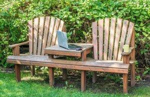 Gartenbank Sitzecke