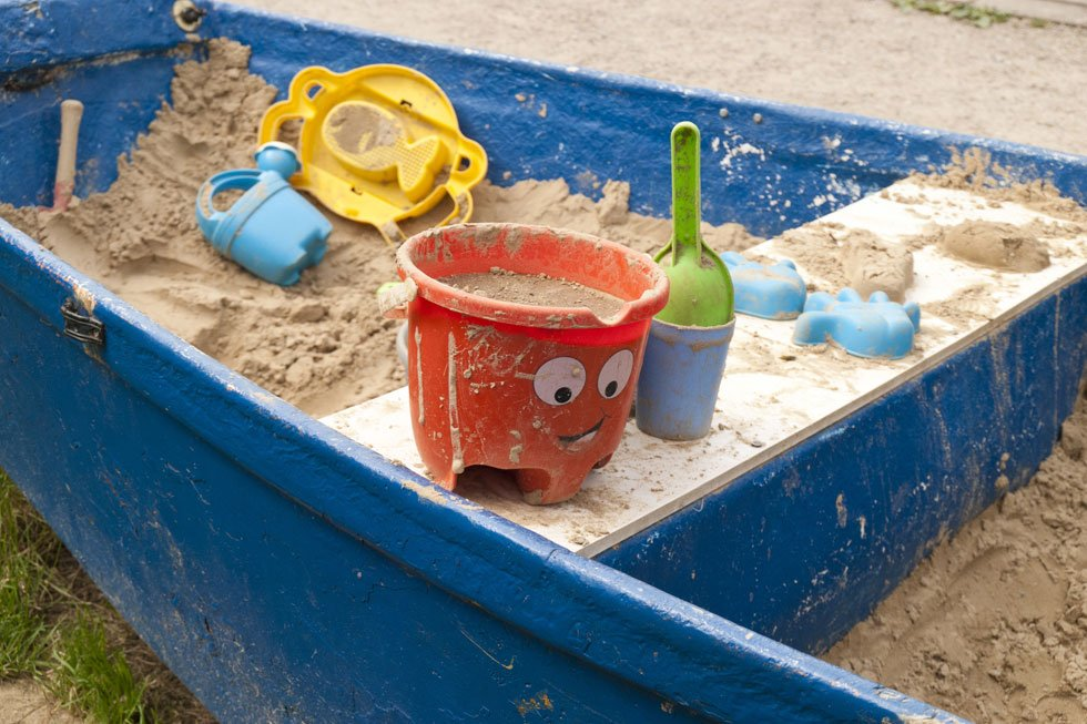 Rowboat as a sandpit