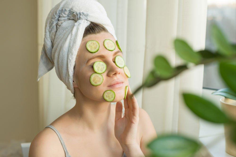 gurken für die Hautpflege