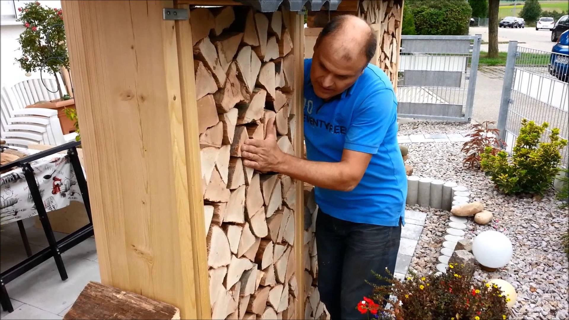 Video: Sichtschutz Aus Brennholz Bauen
