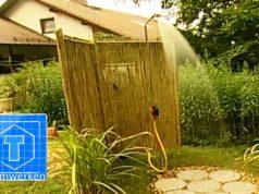 Gartendusche installieren: So legen Sie den Duschplatz richtig an
