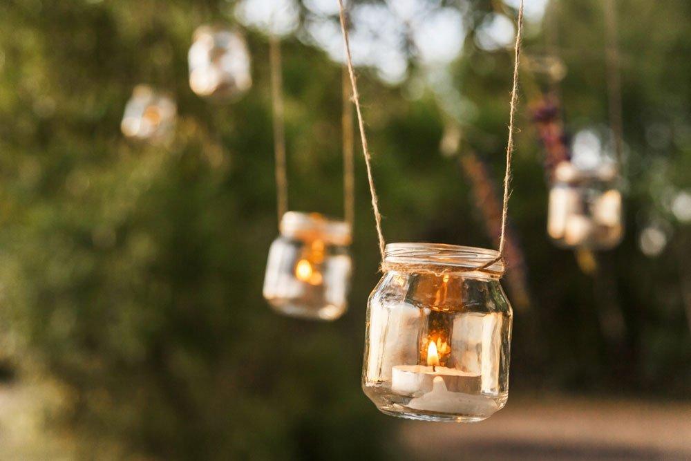 Balkon Ideen Windlicht