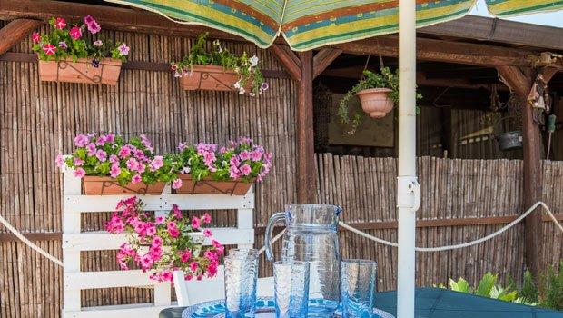 Sichtschutz für Terrassen - stilvolle Varianten - Bambusmatten