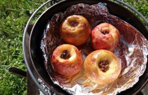 Apfel grillen