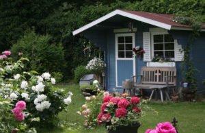 Im Garten wohnen