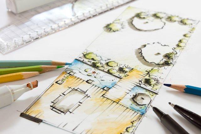 Planung schmaler Garten